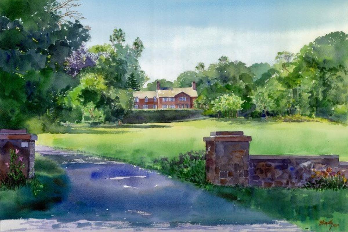 "Hester Haring Cason Preserve ""Haring Estate"" by Artist Beverly Bozarth Colgan"